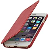 "StilGut Book Type Case ohne Clip, Hülle aus Leder für Apple iPhone 6 (4.7""), rot"
