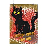 Quelle toi fait Drôle Chat Grincheux Animal de compagnie Matte/Glacé Affiche A3 (42cm x 30cm) | Wellcoda