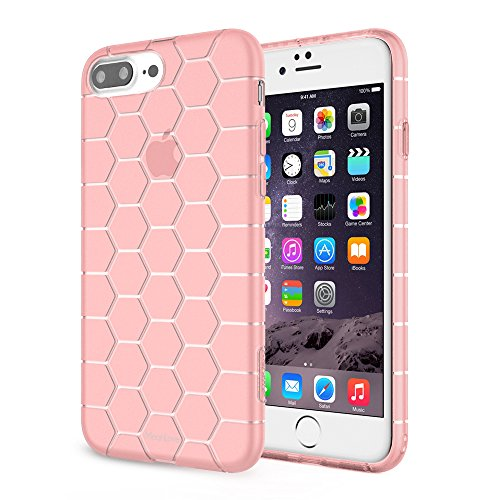 Case for iPhone7 / 7 Plus Meanlove Thin Slim & Soft & Light TPU (iPhone 7 Plus, Pink)