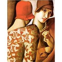 Poster 90 x 120 cm: Teilen von Geheimnissen von Tamara de Lempicka / AFIN. - hochwertiger Kunstdruck, neues Kunstposter
