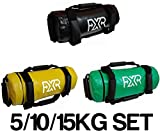 SET OF 5/10/15kg FXR FILLED WEIGHTED POWER BAG FITNESS MMA SAND HANDLES