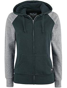 Black Premium by EMP Clover Felpa jogging donna verde/grigio
