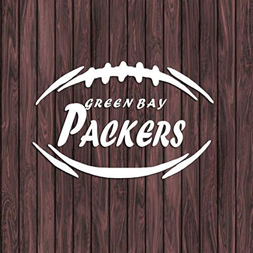 Celycasy Green Bay Packers Aufkleber, Vinyl-Aufkleber, Auto-Aufkleber, Fußball, Laptop, Yeti Cup Decal, Cornhole Aufkleber (Bay Green Packers-aufkleber)