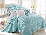 Levtex Spa Pintuck Twin Quilt Set, Teal