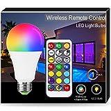 1X RGB Lampadina LED Colori E27, Techgomade A65 Lampadina, RGB + Bianco Caldo 2700k + Giorno 6000k, Oscuramento Del Telecomando a Infrarossi, 16W(100W), 1400lm, Temporizzazione, Funzione Di Memoria
