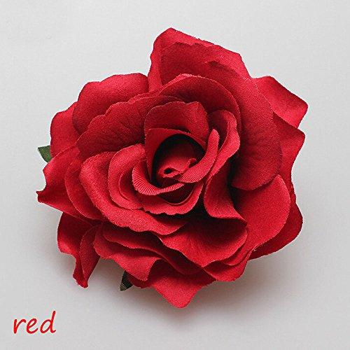 Interesting® 1 PC moda mujeres niña rosa flor horquilla tocado broche Floral boda novia dama de honor fiesta pelo accesorios pelo Clip