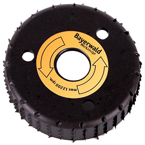 Bayerwald RazorCup - Raspelscheibe - Ø 90 mm x 22,2 mm | schnelles, seitliches Abschleifen von Holz & Holzwerkstoffen | für Winkelschleifer
