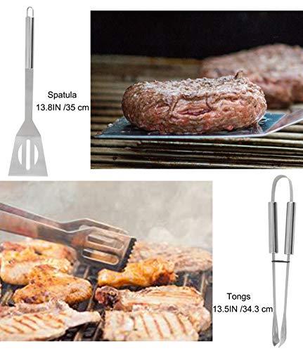 51Xdtj83J1L - BBQ Grill Zubehör Werkzeug Set mit 15 Dosen Blau Isolierte Kühltasche - All-in-One BBQ Picknick Kühltasche - 12 Stück Edelstahl Camping Utensil Kit für Outdoor Grillen - Präfekt Geschenk für Männer