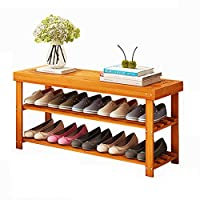 MGMDIAN Change shoe bench Shoe cabinet - solid wood storage stool can sit dustproof shoe rack home multi-layer Home shoe rack