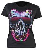 Damen T-Shirt, Girlieshirt mit coolen Totenkopf - Shady Character
