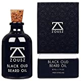 ZOUSZ Beard Oil | Black Oud Scented Beard Oil As Seen In GQ | Non-Greasy + Masculine Beard Oil | Moisturises and Conditions Beard | Luxury + Finest + Beard Growth Oil | Mens Gift (50mL)