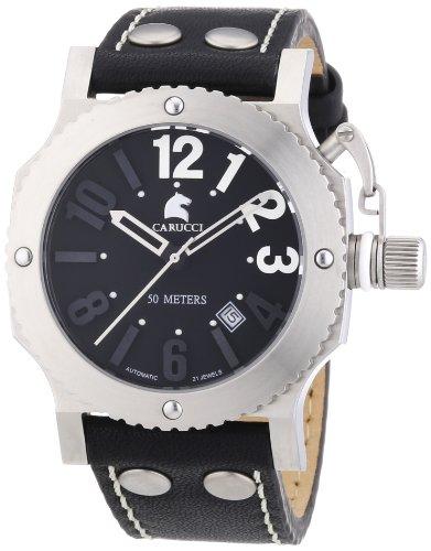 Carucci Watches CA2210BK - Orologio da polso unisex, caucciú, colore: nero