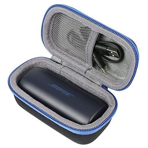 Co2crea duro viaggio caso copertina per bose cuffie soundsport wireless(travel case) (blu(blu notte))