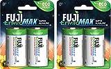 Fuji EnviroMAX Super Alkaline D 4-Stück ECO FRIENDLY Batterien. Unsere Nr. 1am längsten Alkaline-Batterie mit Rückseite aktuellen Prävention.