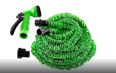 ELSTER PLUS Tuyau d'arrosage flexible et extensible avec pistolet 15 m