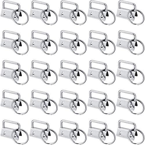 40 Stück Key Fob Hardware Schlüsselanhänger Fob Wristlet Hardware mit Schlüsselring für Lanyard, 1 Zoll (Fob-lanyard)