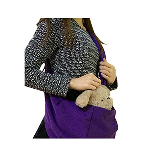 Pet Carrier Carrier Dog Pet zaino portatile borsa da viaggio Xagoo Pet Dog frontale Mesh Bag zaino testa fuori una spalla esterna (viola)