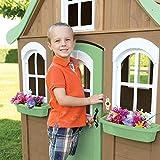 ENFANTS Wendy House–Ce Bois de Cèdre pour enfant Maisonnette est une Cabane en bois solide, robuste et sécurisé, plein d', Fun, fonctionnalités Intéressantes. Un Excellent den pour extérieur Play. (2–10ans)