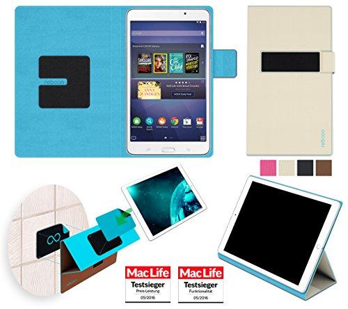 Samsung Galaxy Tab A Nook 7.0 Hülle Cover Case in Beige - innovative 4 in 1 Tablethülle - Anti-Gravity Wandhalterung KFZ Halterung Tischaufsteller Schutzhülle - Tablet Halterung für Auto und - 4 Galaxy Nook-etui Samsung Tab