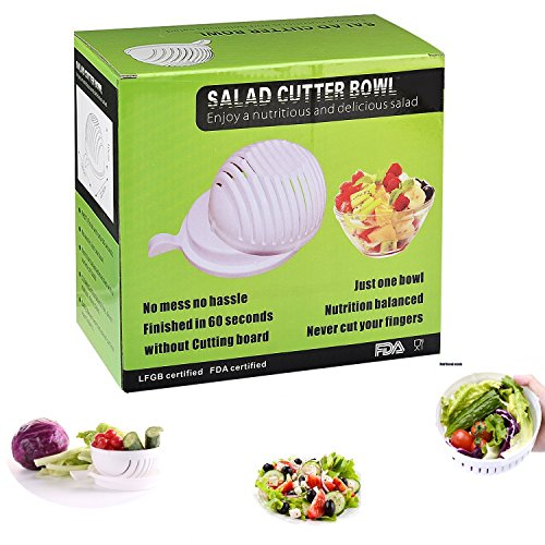 Chop Chop Salad Cutter Bowl, 60 Second Salad Maker, Cutter, Salad Chopper, Practical Fast and Easy to Slice
