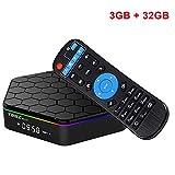 EMSMIL Smart TV BOX Android 7.1 Octa Core Amlogic S912 T95Z Plus 3GB DDR3 RAM 32GB EMMC Flash Streaming Media Player Unterstützt 2.4G 5G Dual Band WIFI Bluetooth 4.0 LAN HDMI 1080P UHD 4K 3D