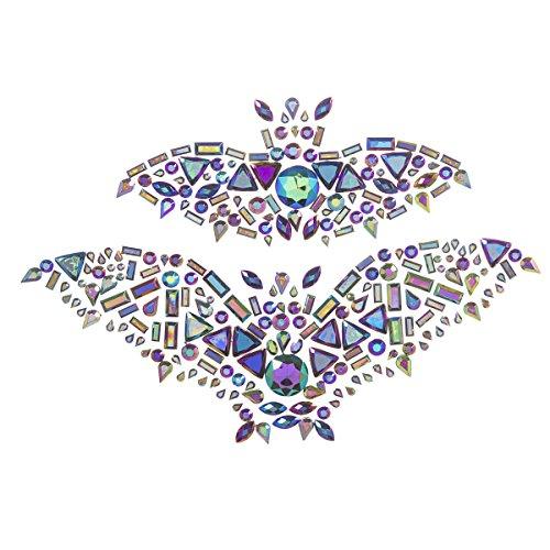 Martha Stewart Halloween Aufkleber Edelstein-Fledermäuse, selbstklebend 5.5 inches Elfenbeinfarben/Cremefarben