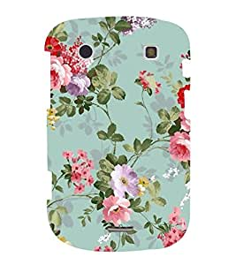FUSON Classic Floral Decoration Isolated 3D Hard Polycarbonate Designer Back Case Cover for BlackBerry Bold Touch 9900 :: BlackBerry Dakota :: BlackBerry Magnum