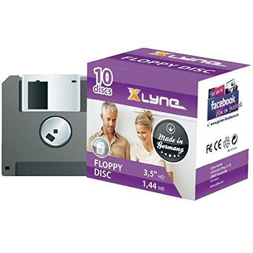 XLYNE 10er Pack Disketten - 1.44 MB - 8.9 cm (3.5 Zoll) Floppy Disc - 10 x Diskette von XLYNE