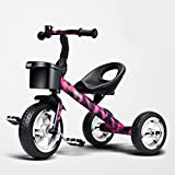 bicicleta de bebé Cochecito / niños que montan la bici / pedal del bebé de 2-5 años Tres bicicletas redondas de los cabritos / bebé sin la bicicleta de patinaje de la cadena Bicicletas ( Color : A )