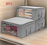lightning moments Storage Bags with Double Zippers, Large Clear Window & Portable Handles