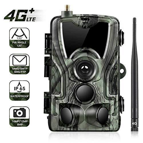 GXYGWJ 42 Infrarot LED Wildkamera 4G16mp Mit 0,3 Sekunden Aktivierungszeit 1080p Pfad Kamera IP65 wasserdichte Infrarot Kamera Für Outdoor Und Home Security Überwachung Mit Nachtsicht Wildkamera