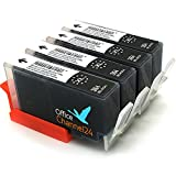 4 x cartucce hp 364 xl da Compatibile Nero Con Chip per hp Photosmart 5510 5514 5515 5520 5522 5524 6510 6520 6525 7510 7520 DESKJET 3070 A 3520 3522 OFFICEJET 4620 4622