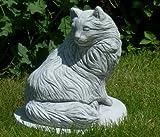 Unbekannt Figur Katze | Höhe 27 cm | Tierskulptur aus frostsicherem Beton | Katze Skulptur | Katze Dekofigur | Gartendeko | Garten Deko | Garten Figur | Gartenskulptur