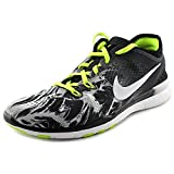 nike womens free 5.0 TR FIT PRT running trainers 704695 sneakers shoes (uk 7 us 9.5 eu 41, black white volt 014)