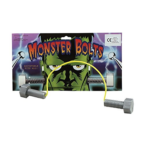 Bristol Novelty GJ132Monster Schrauben auf einen Draht Halloween Zubehör Set, Unisex, Silber, One size (Halloween-kostüm Frankenstein Ideen)
