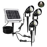 MEIKEE Lampe Solaire Exterieur 45 leds Spot solaire puissant exterieur LED Etanche IP66 6000K blanc du jour, lumiere exterieur solaire idéal pour Chemins, Pelouses, Terrasses, Plantes Lot de 3