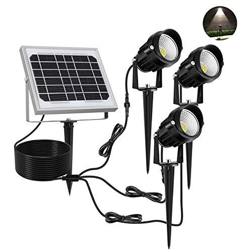 Parámetros:* Cantidad de LED: 15*3* Potencia del panel solar: 6V/3W* Especificaciones de la batería: 4000MAH* Tensión de funcionamiento: 3V/DC* Tiempo de descarga (carga completa): 12H* Tiempo de carga: 10H* Flujo luminoso: 150LM/PCS * 3 =450LM* Temp...