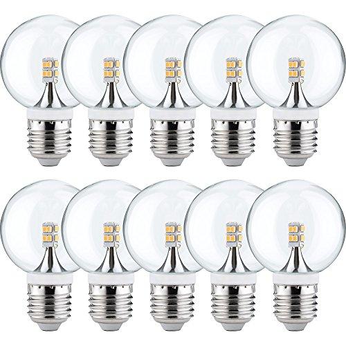 25w Klar Globe (10 x Paulmann LED Mini Globe G60 2,5W fast 25W E27 Klar Kugel Warmweiß 2700K 360°)