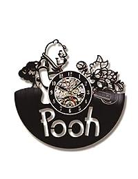 szhao Creativo Tema De Dibujos Animados Hecho A Mano Winnie The Pooh CD Record Clock Reloj