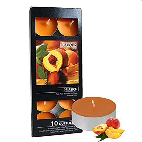Peach Scented Tea Light Candles Aromatic Set of 10 Per Box