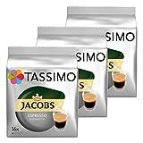 Tassimo Jacobs Espresso Ristretto, Kaffee, Kaffeekapsel, gemahlener Röstkaffee, 3er Pack, 3 x 16 T-Discs