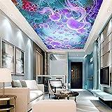 Steaean Médaille Personnalisée Mer 3D Papier Peint De Plafond pour Le Salon Mur Plafond Murale Murale Murale, 400 * 280 Cm