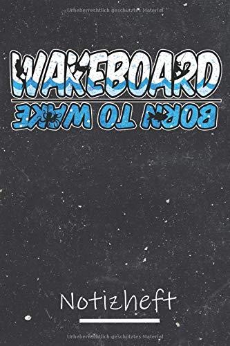 Wakeboard Notizheft: A5 Notizheft mit 120 Seiten im Punkteraster