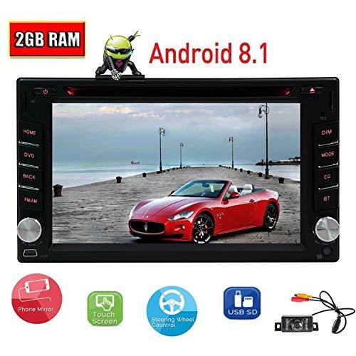 Caméra arrière Offert + Double 2 Din 6.2 Pouces Android 8.1 Car Stereo 2 Go de RAM 16 Go ROM Support de Navigation GPS Bluetooth 1080P vidéo SWC USB SD caméra arrière entrée et télécommande
