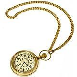 CarryWishiya Antique Design Usable Real Brass Gandhi Watch