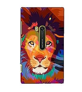 Fuson Designer Back Case Cover for Nokia Lumia 920 :: Micosoft Lumia 920 (The lion theme)