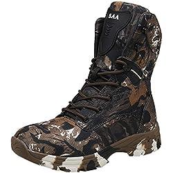 Sneakers Camuflaje Vintage High Top Zapatos Camper Hombre Senderismo, Botas De Senderismo Moda Al Aire Libre De Entrenamiento Especial Desert, Zapatillas Deportivas Altas Hombre