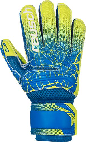 Reusch Fit Control SG Extra Finger Support Junior, Größe:6.5, Farbe:Blue/Lime/Lime