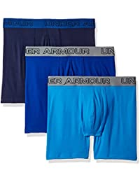 "Under Armour Charged Cotton 6"" Pack de 3 Ropa Interior, Hombre, Azul (788), L"