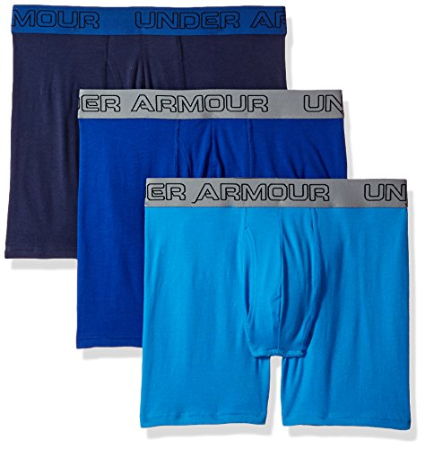 Under Armour Herren Boxer Jock, Stretch-Baumwolle, 15,2 cm, 3 Stück, Herren, Brilliant Blue/Midnight Navy (Unterwäsche Boxer Jock)